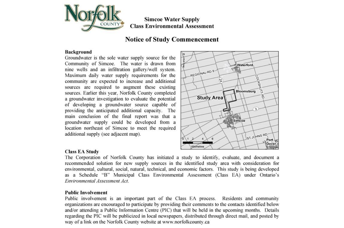 Municipal Class Environmental Assessments