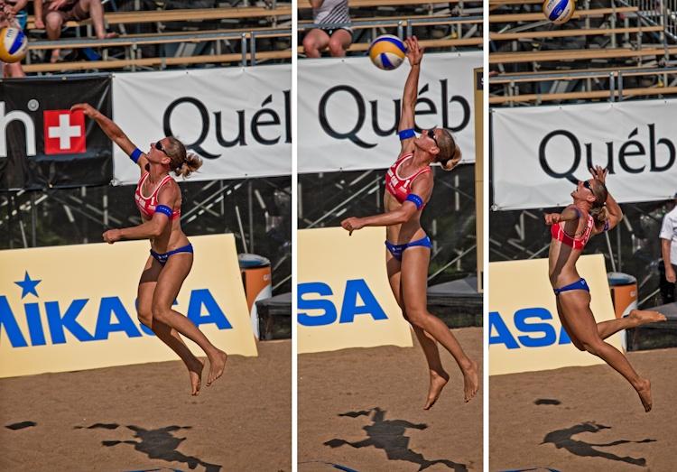 Québec Open Volleyball 2011  Annie Martin lors  d'un de ses services  puissants