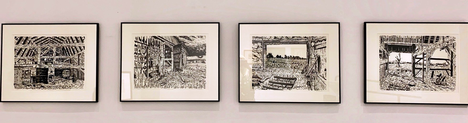 Clark McDougall, Tisdale Farm Series, original serigraphs signed by Clark McDougall. 1978  $325 each pick only