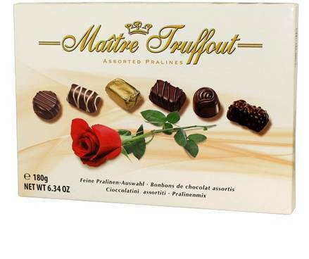 MT180RS Maitre Truffout assorted rose pralines..180 gr