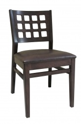 Checker Side Chair, upholstered