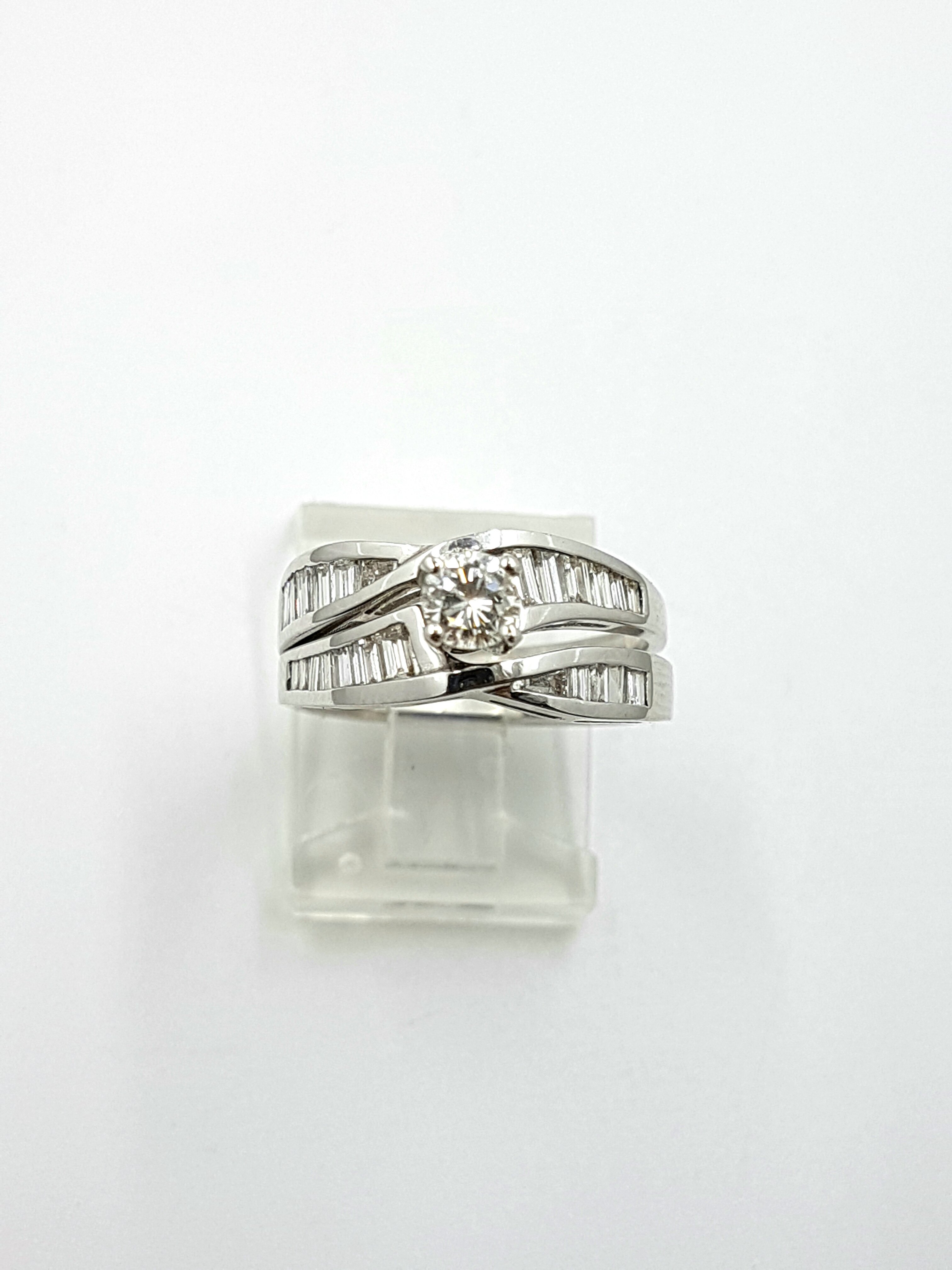 Engagement Ring & Wedding Band 14K White Gold Ring: 0.80ct / Band: 0.50ct 1.30ct Total Regular Price $9840 SALE $2395 Ref: BF354+W