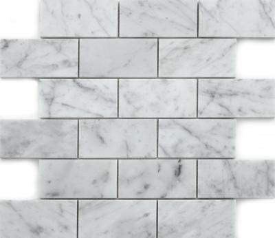 "Marmoreal Bianco Carrara 2""x4"""