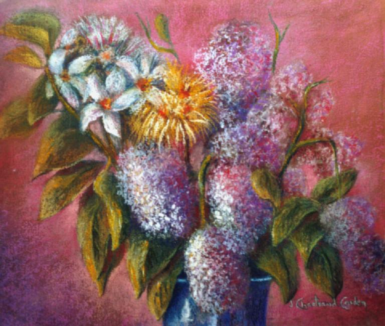 """Les lilas Pastel 14"""" x 16"""""""