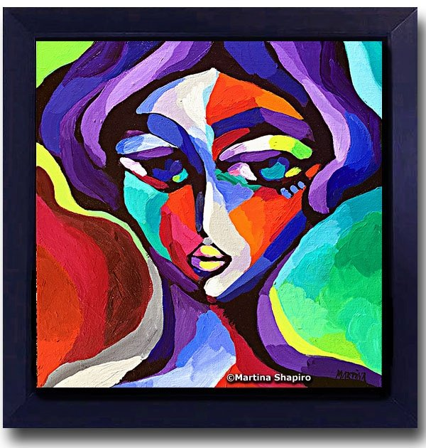 abstract female portrait painting fine art martina shapiro