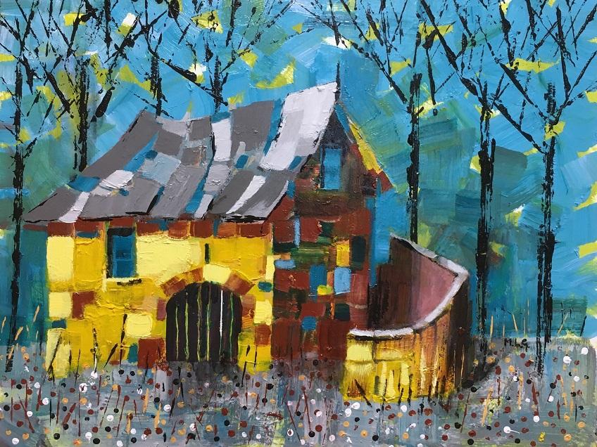 Barn in Villeneuve-Les-Avignon Acrylic