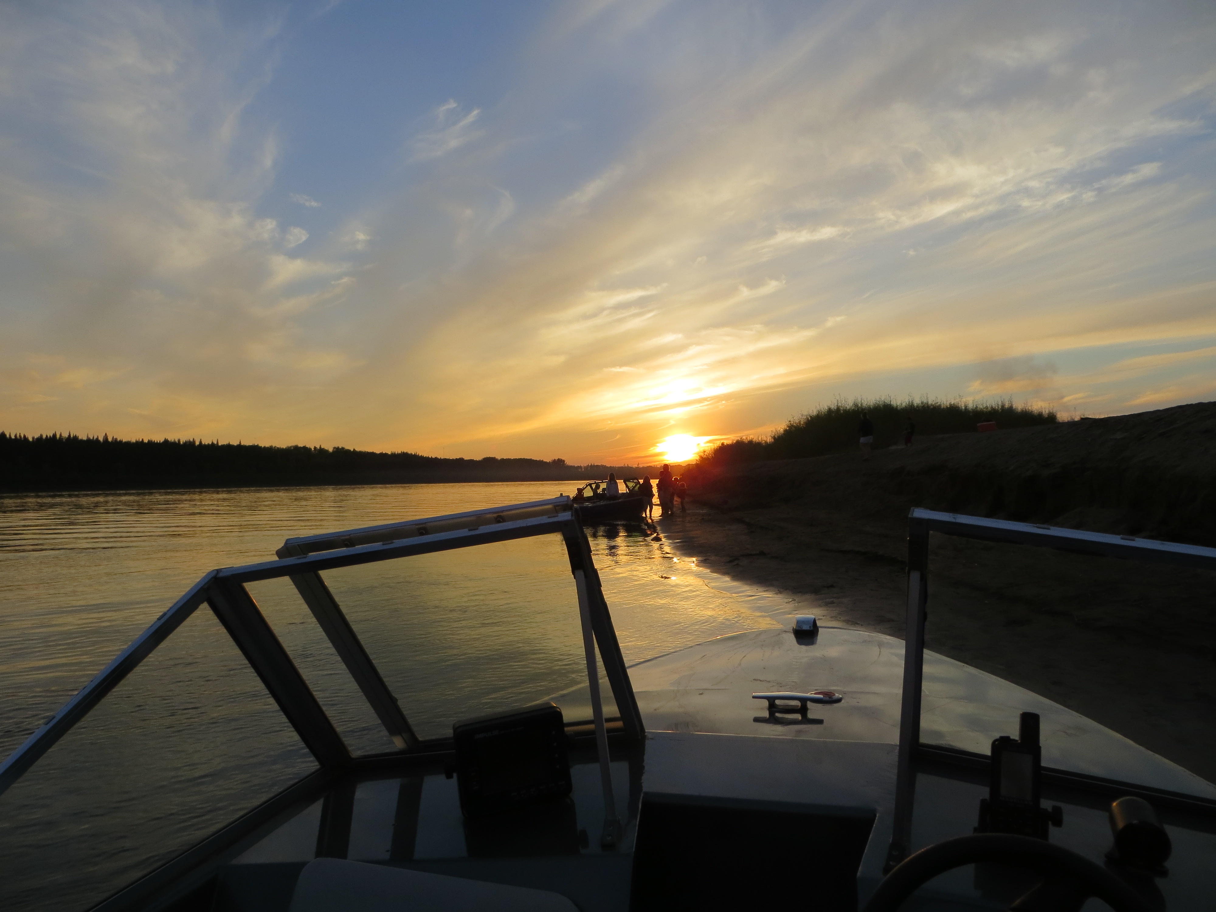 Sunset on the Peace River. Photo Credit Marilee Cranna Toews