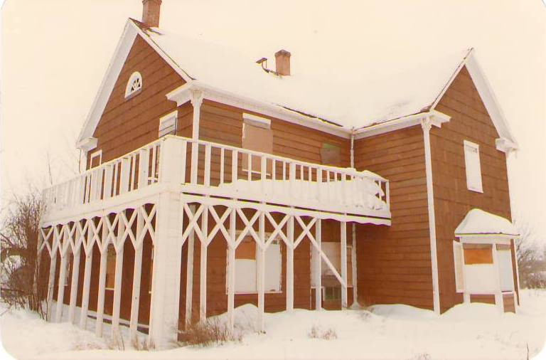 The OBH boarded up and abandoned c. 1980 Photo Credit: Marilee Cranna Toews