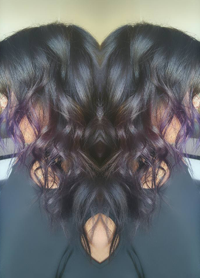 Black and Purple Balayage
