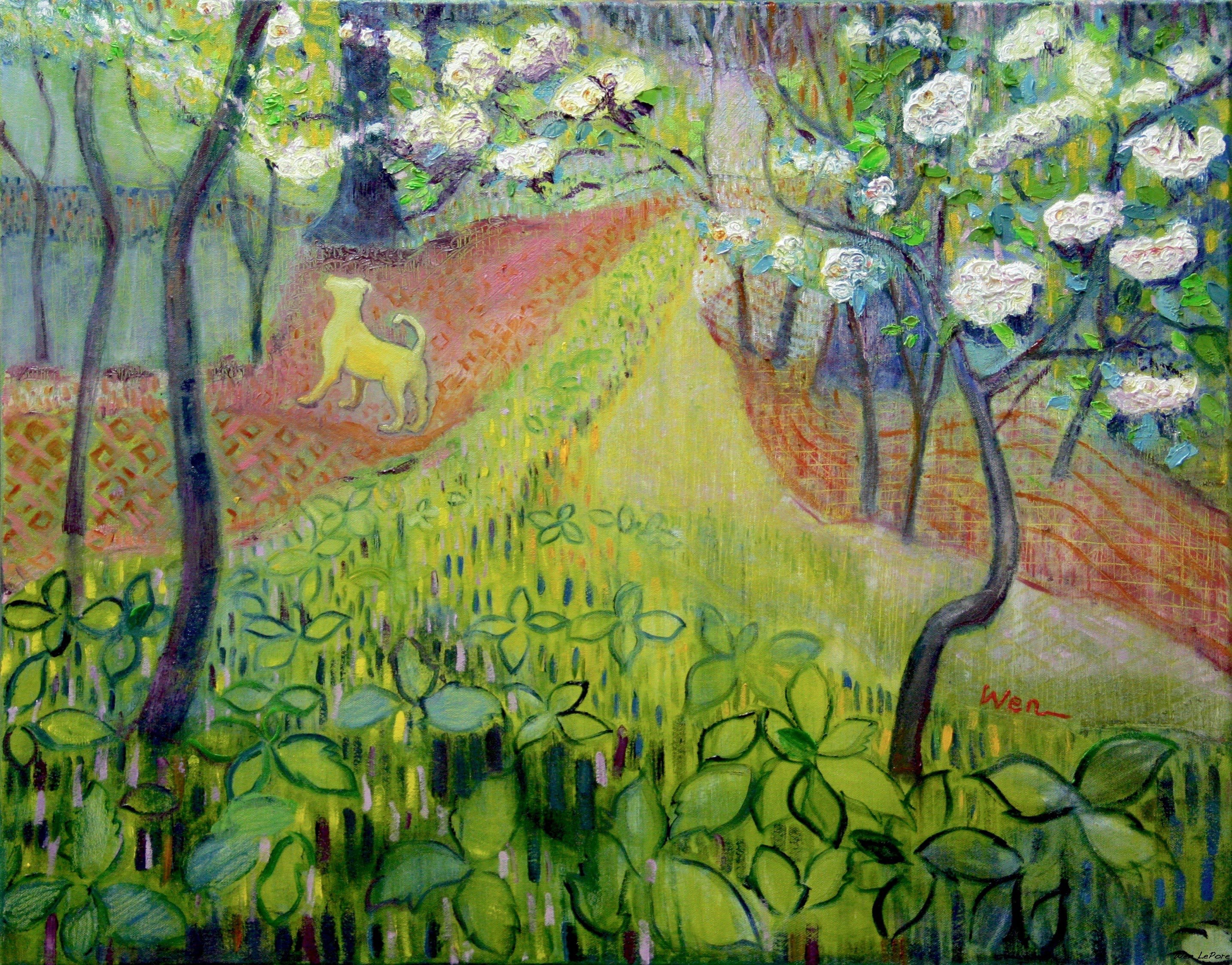 "Mountain Laura Blossom at Monticello Paark oil on canvas 24"" x 30"""