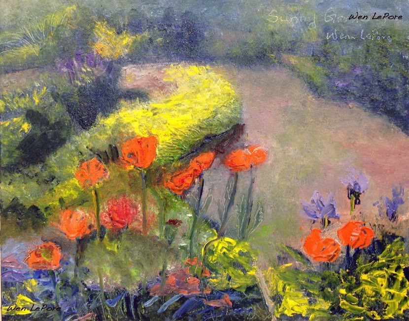 Poppies in Bon Air Sunny Garden (sold)