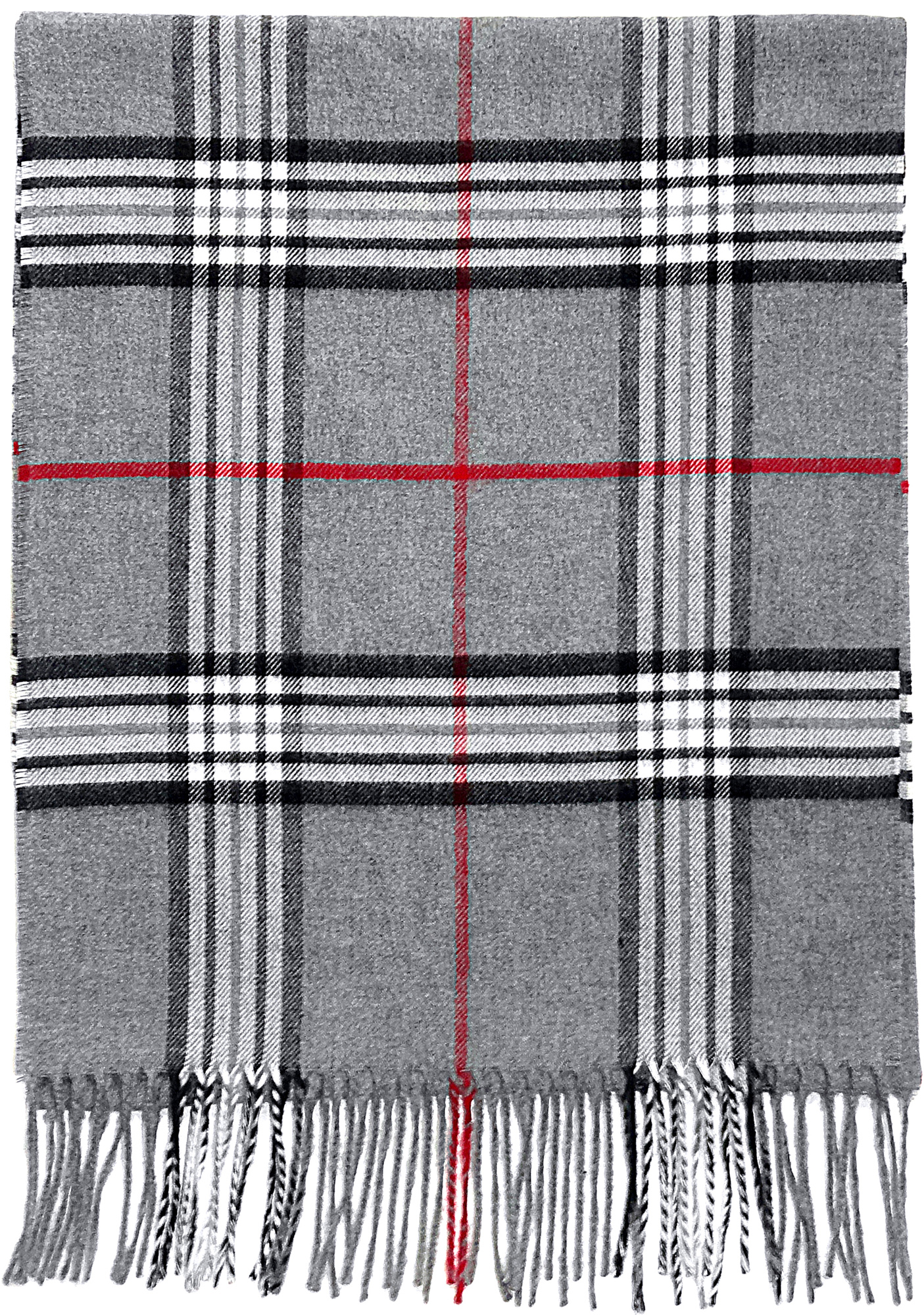 Fraas Plaid in Grey- $35.00 Cashmink, Made in Germany 771899115990