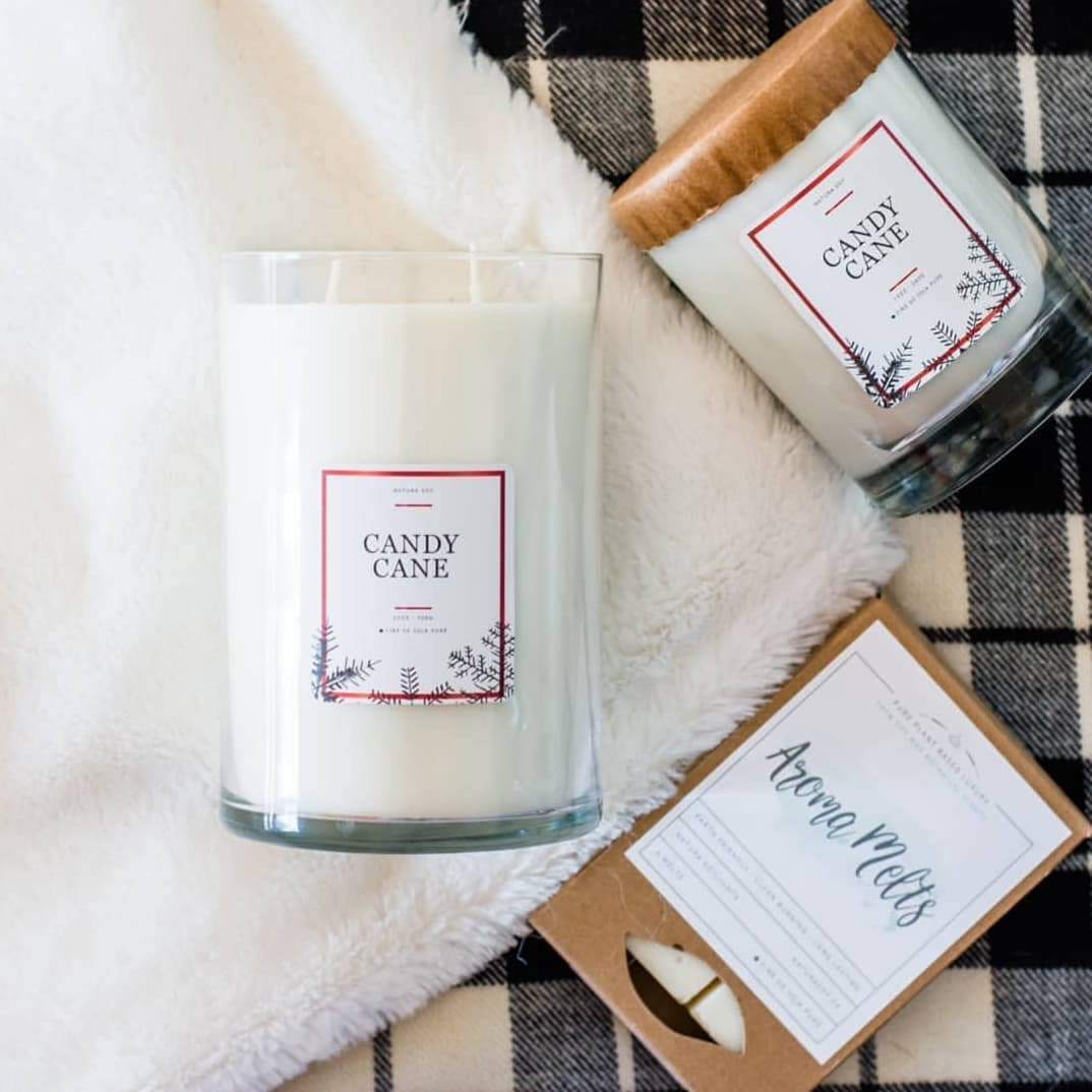 Available December 2021 Candy Cane Pure Peppermint oil and sweet Vanilla