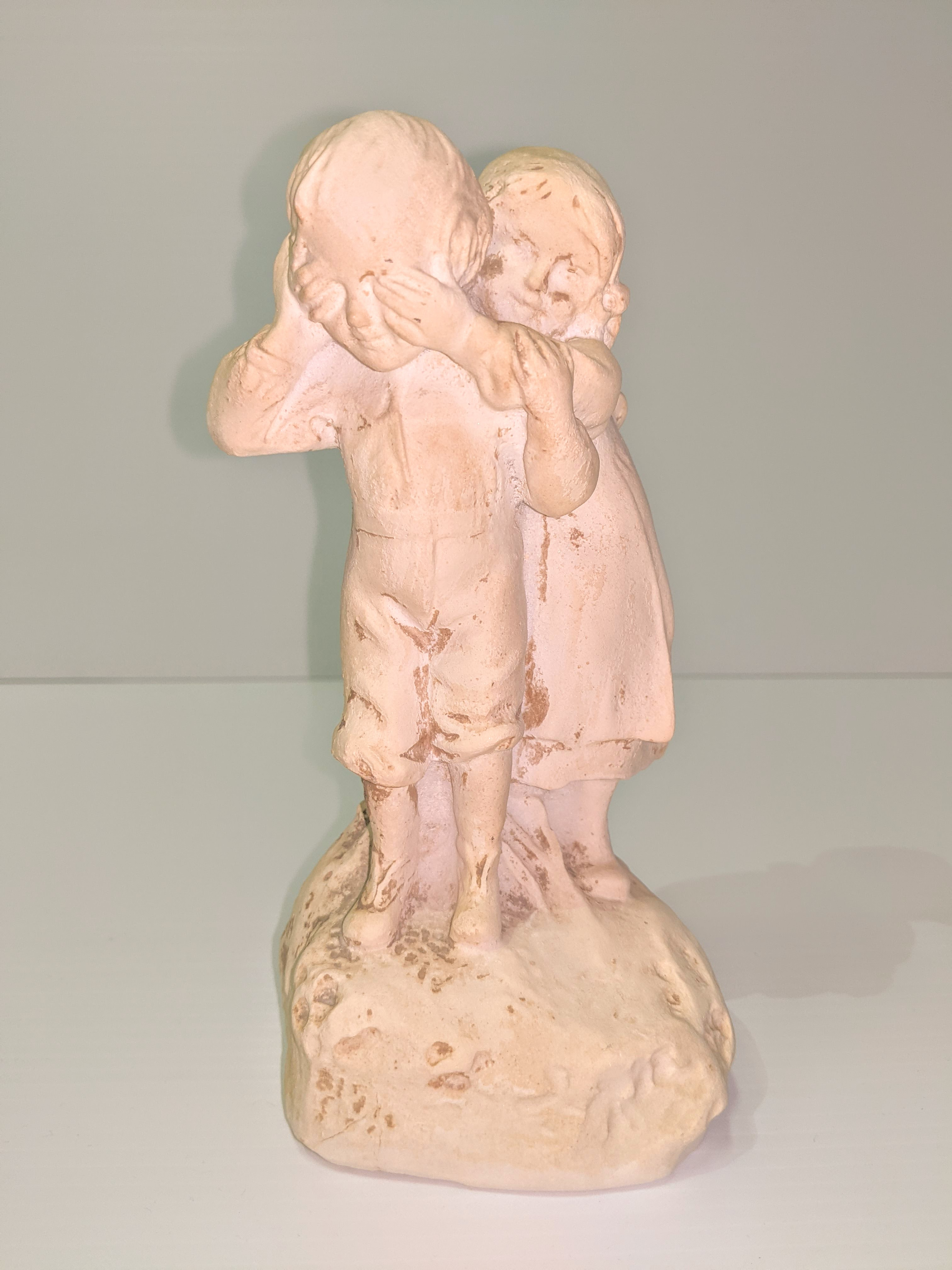 This adorable statue of 2 kids playing was donated to the FVHC by Eunice Hitchcock - who was a teacher in Fort Vermilion for many years. The statues main unique feature is its medium - it's made of salt! We would love to know how that process works, please contact us if you have more information on it - or have connections to Eunice!  22/2/2021 1999.03.98 / Hitchcock, Eunice