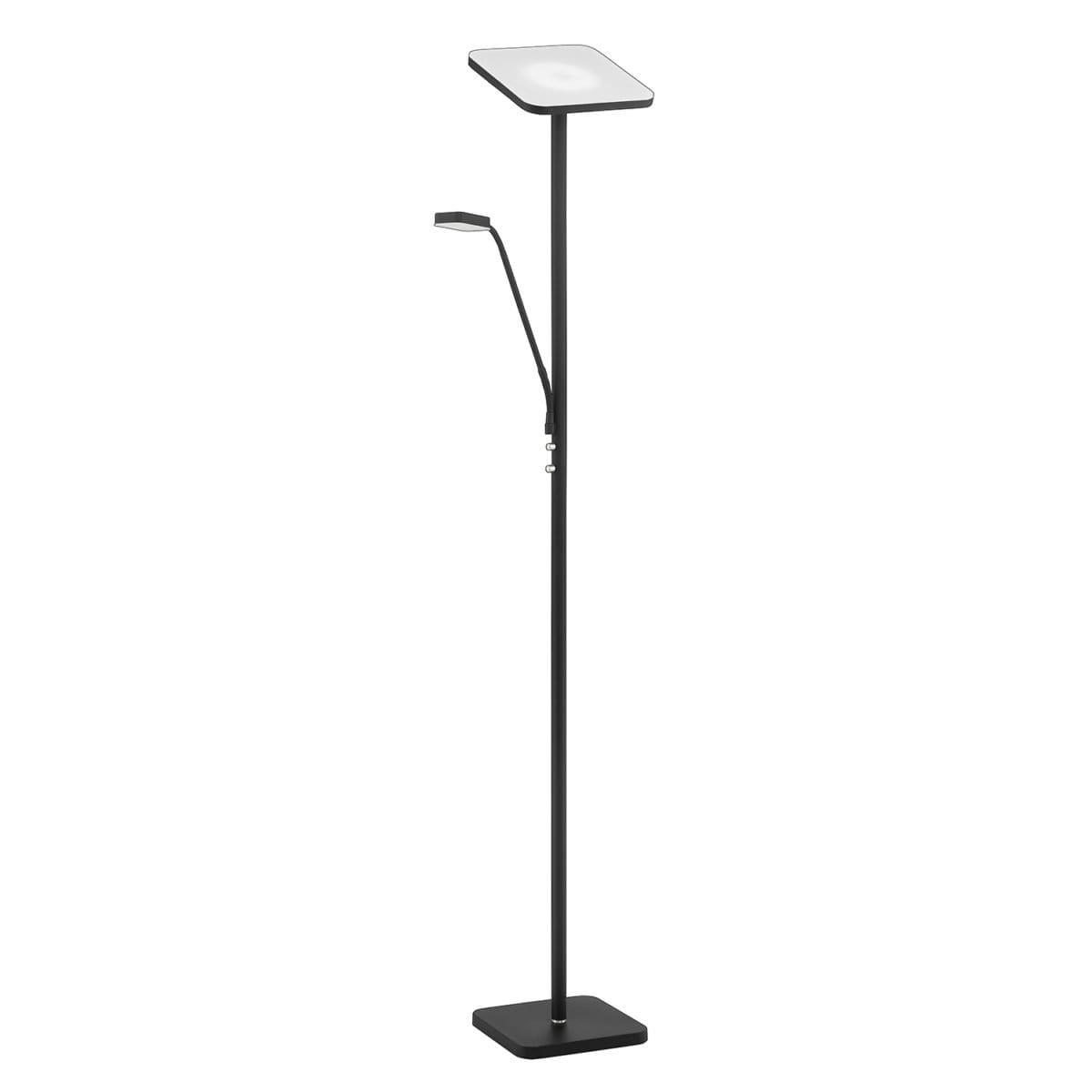 148 TC 5012 BLK/SN LED Torchiere with Reading Light Available in Black with Satin Nickle  or Satin Nickle Regular Price $333.99 Sale Price $233.99