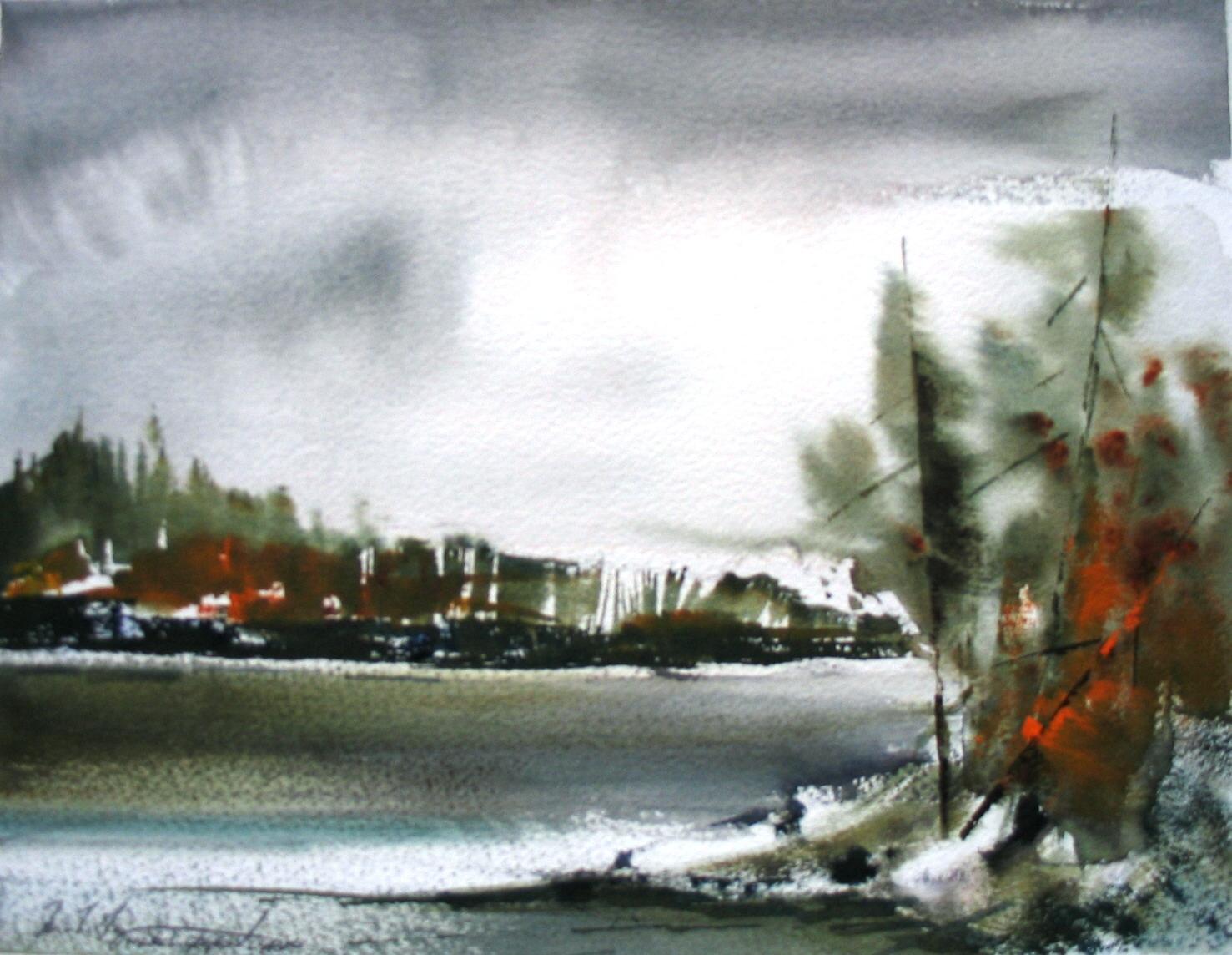 Cedar Lake Watercolour