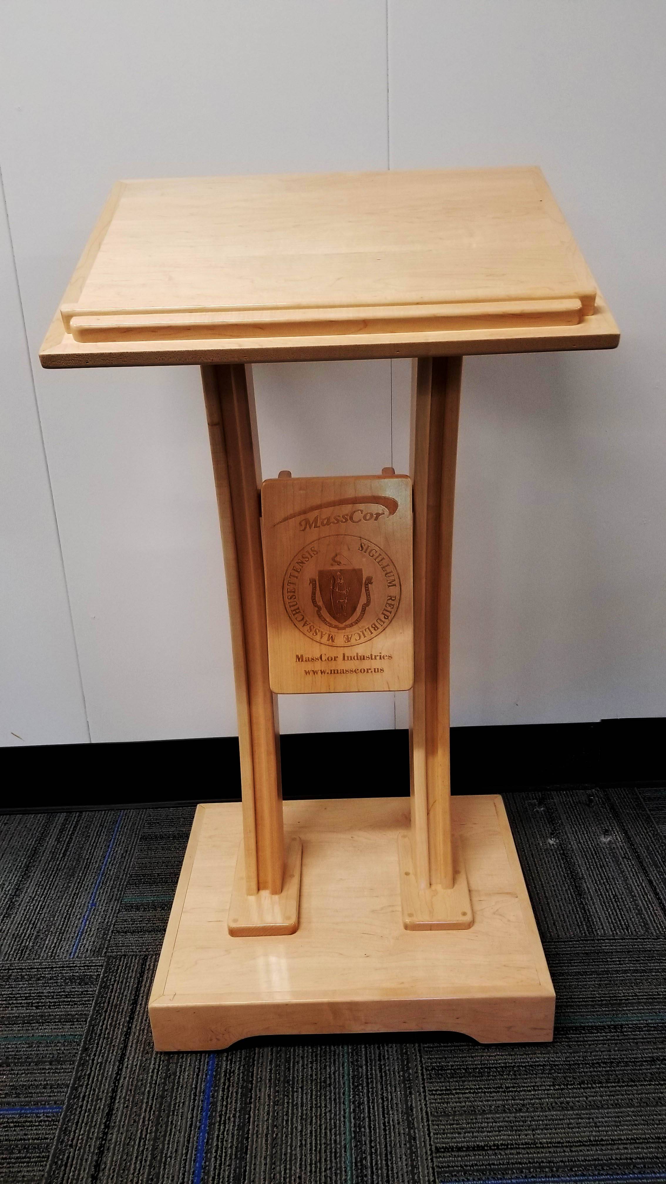 Custom Lectern with Laser Engraving
