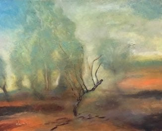 "The Dancing Tree II oil on canvas 24"" x 30"""