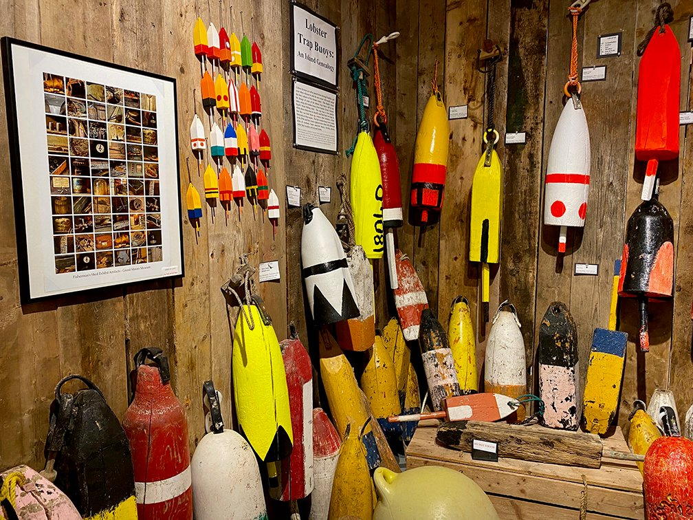 One view of the Lobster Trap Buoy Exhibit.