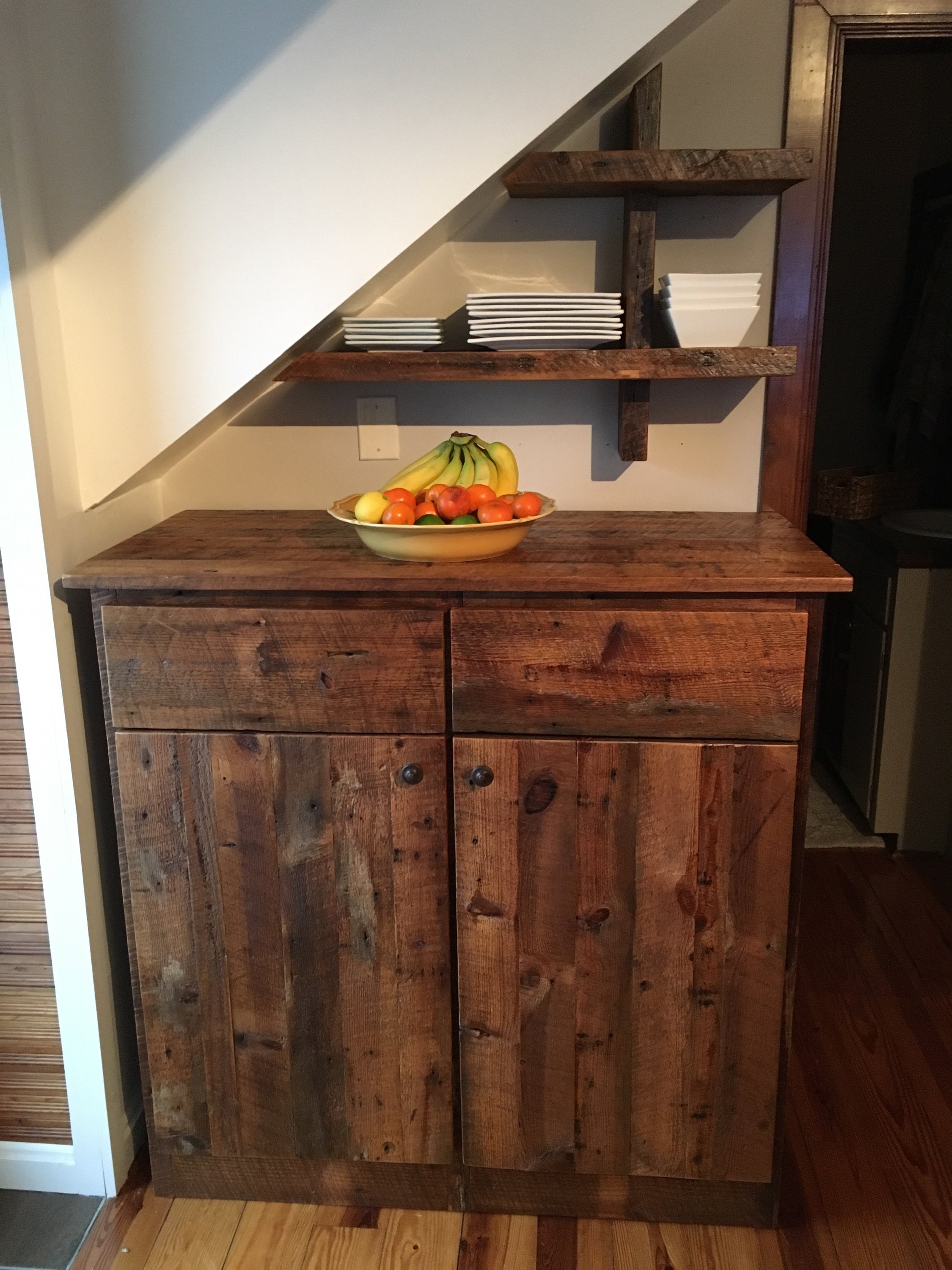 Barn Wood Pantry Cabinet