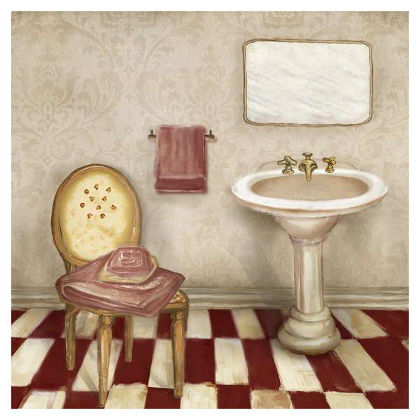 Blush Powder Room I