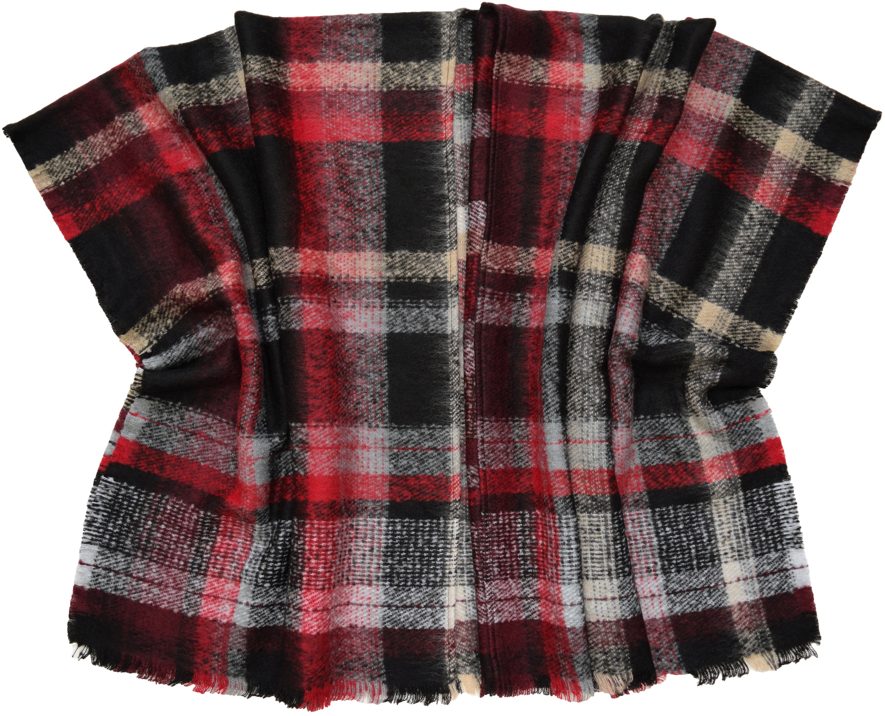Cape: Textured Plaid- $80.00 Acrylic, Made in Germany 771899186693
