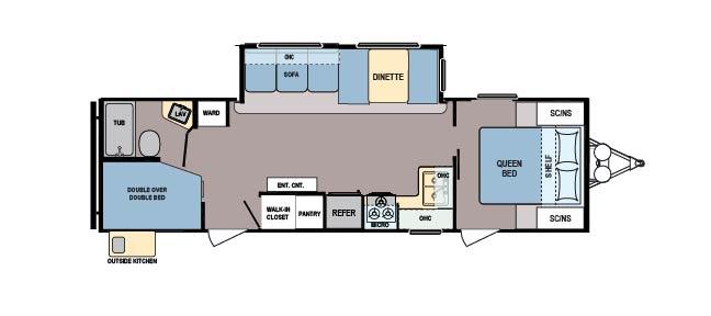 Coleman 285BH floorplan