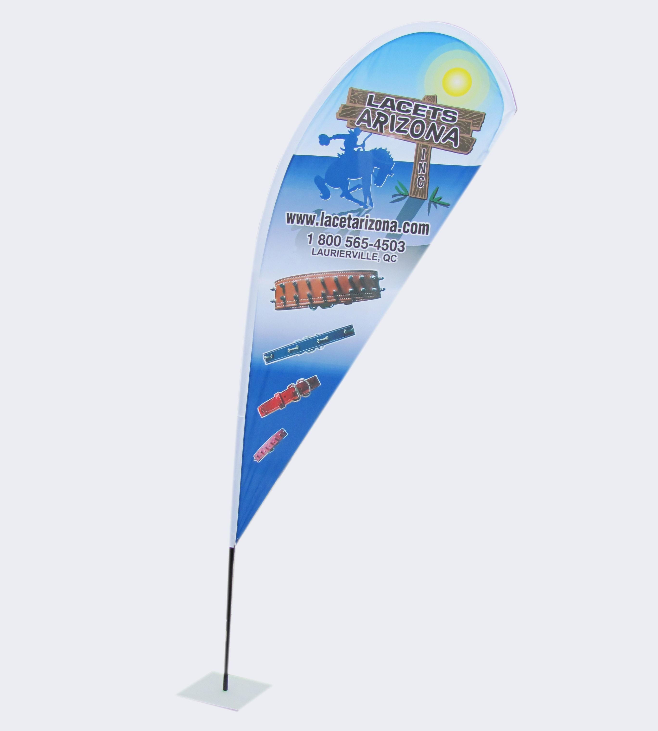 """Beach flag """"Goutte"""""""