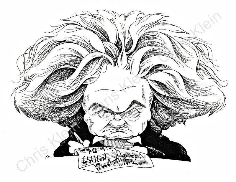 Beethoven caricature