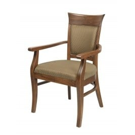 Légant Arm Chair, upholstd back & seat