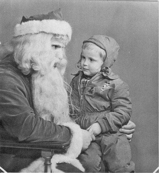Sandra White with Santa