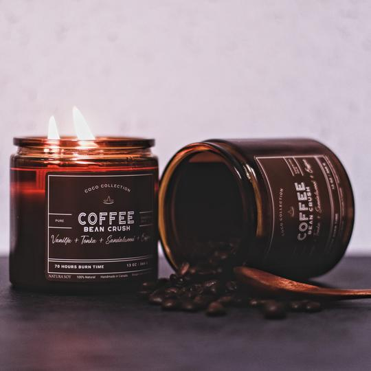 ARRIVING 2021 Coffee Bean Crush Roasted coffee beans mixed with caramel and dark cocoa to bring you the comfort and warmth of a fresh roasted cup of coffee