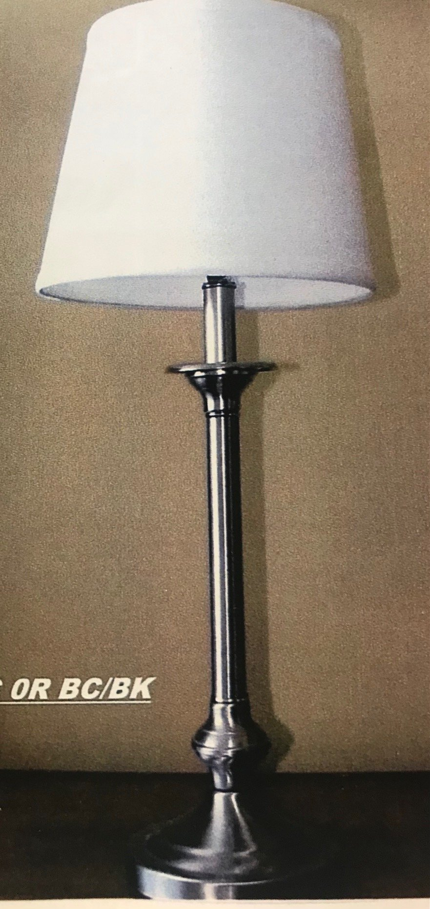 840T Table Lamp Made in Canada Available in Antique Brass,  Brushed Chrome, Black or Antique Bronze Regular Price $162.99 Sale Price $114.99