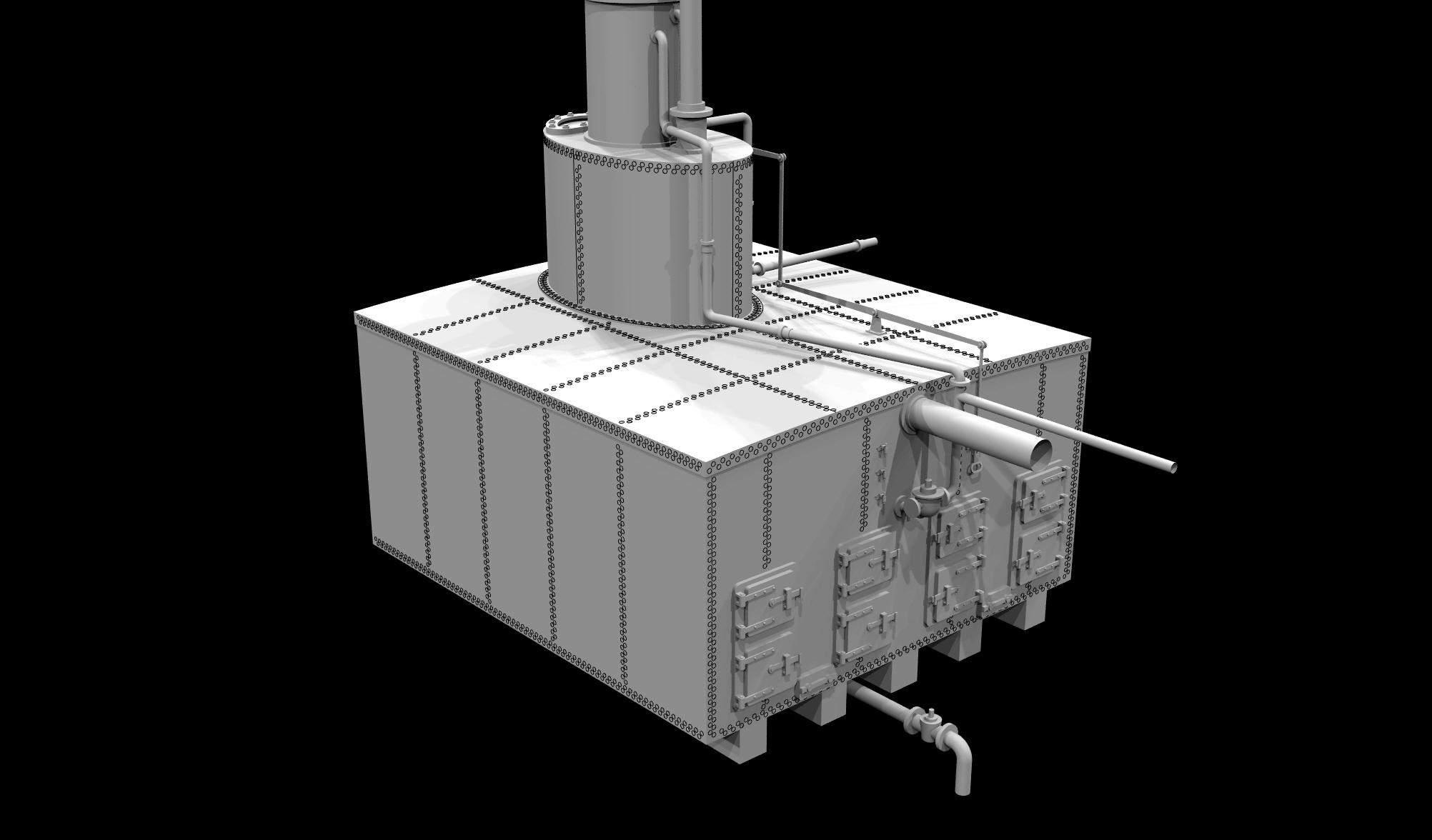 S.S. Beaver - Boiler & Stack