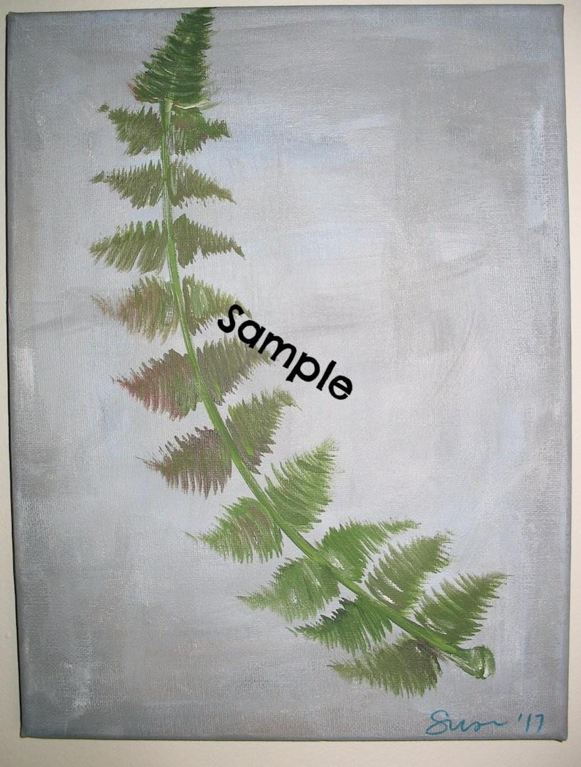 Fern Frond 8 x 10 Acrylic