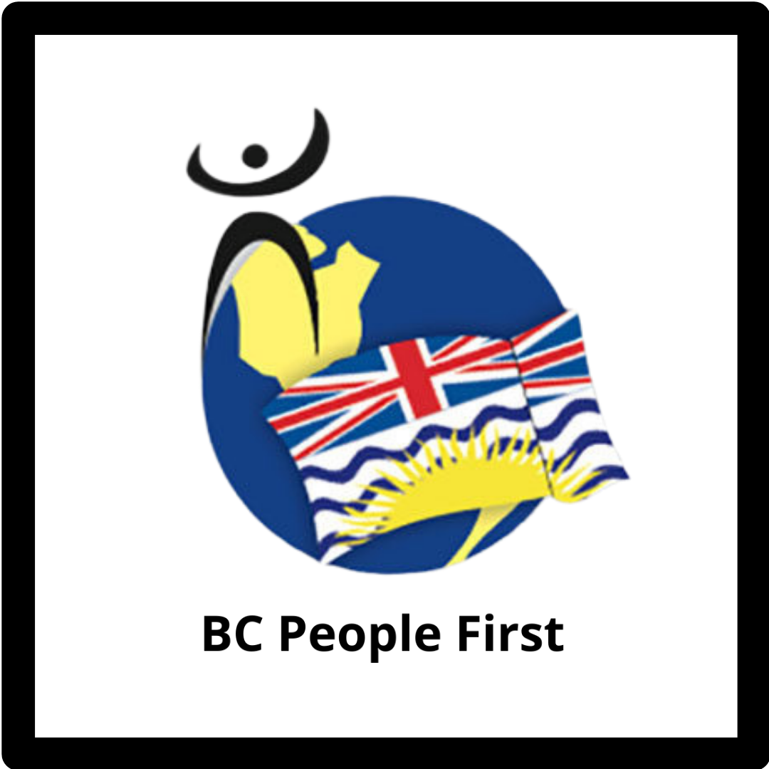 BCPF logo: BC flag and stick person on globe graphic