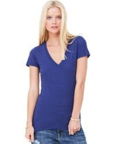 Triblend Deep V-Neck T-Shirt