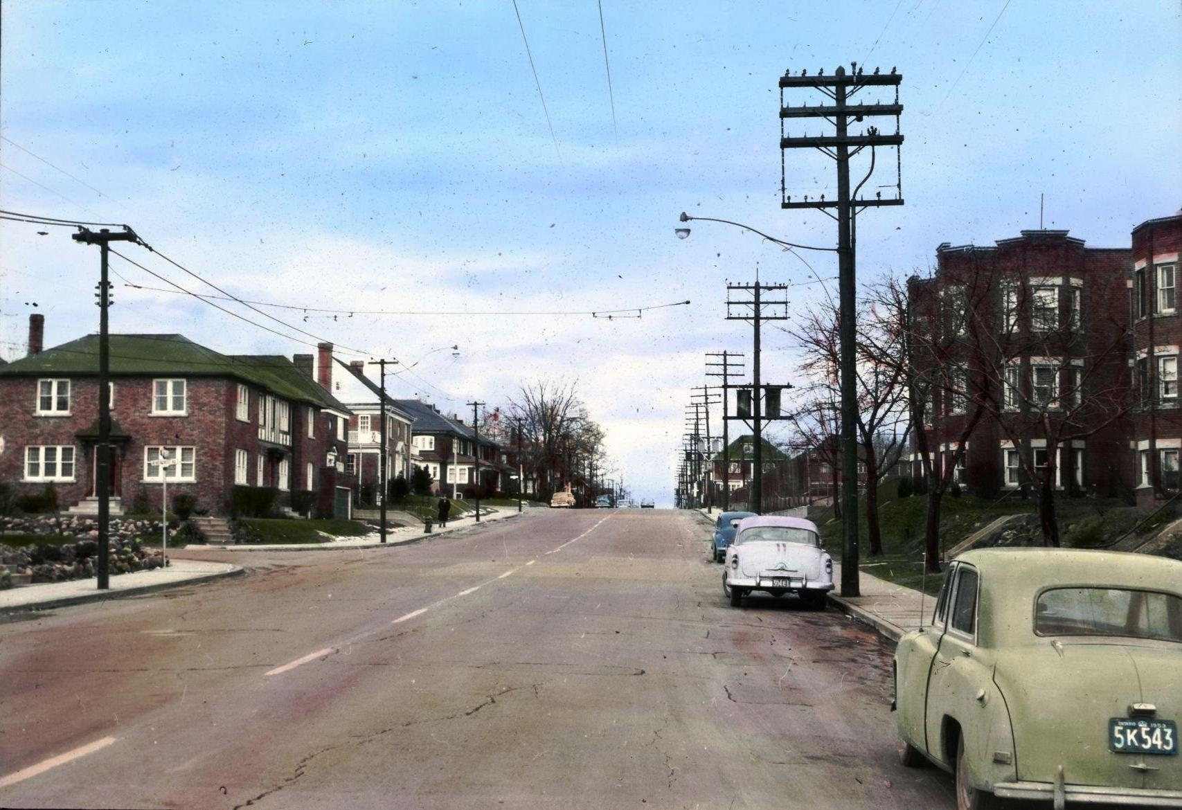 Bloor & Jane looking north - 1954