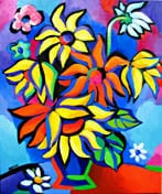 """SOLD to Vence, France. """"Sunflower Passion"""", original oil on canvas painting, 20x24 inches"""