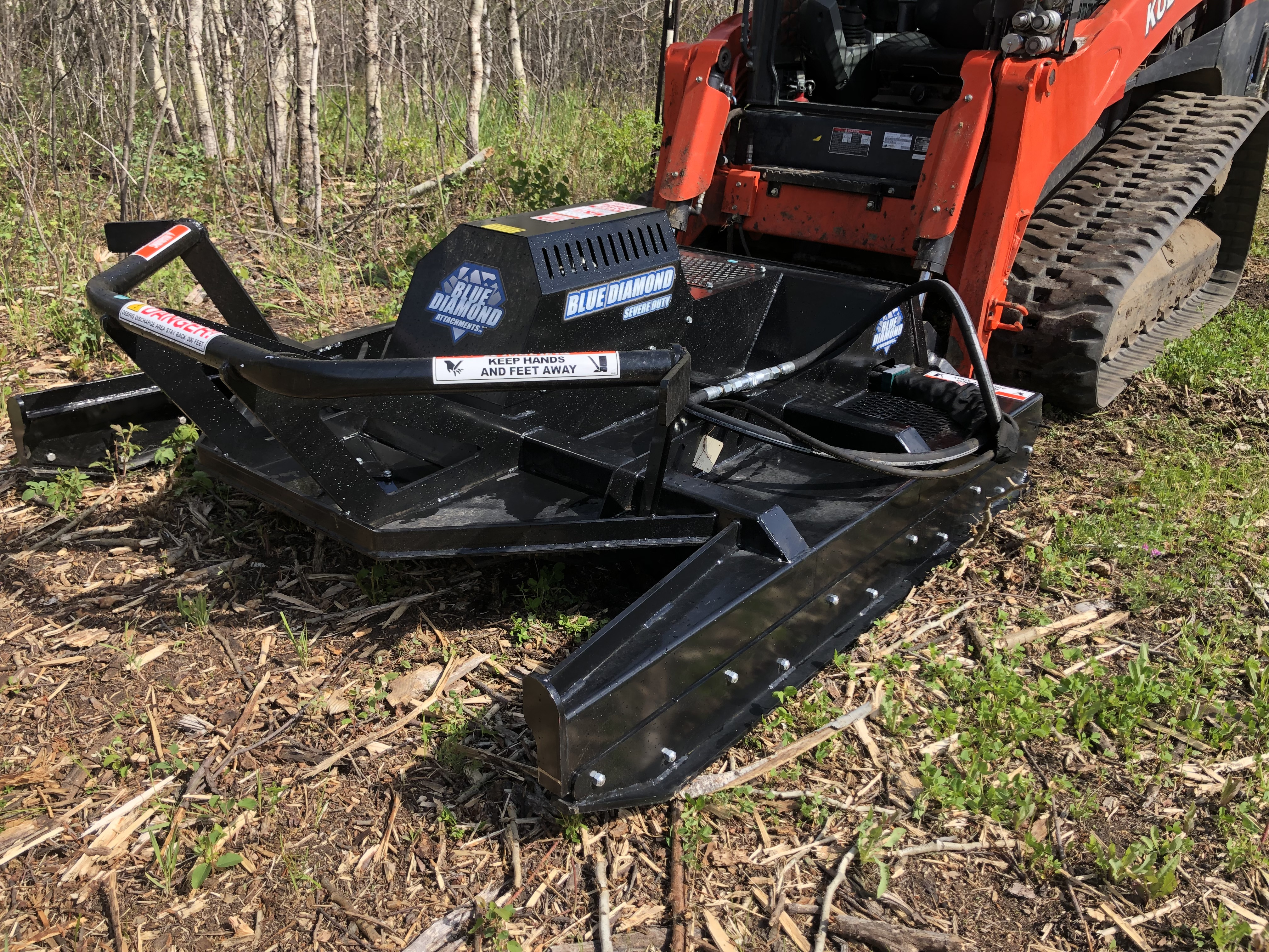 """Severe Duty Open Front Brush Cutter 72"""" High Flow Cuts up to 10"""" trees Click image to open descriptive page."""