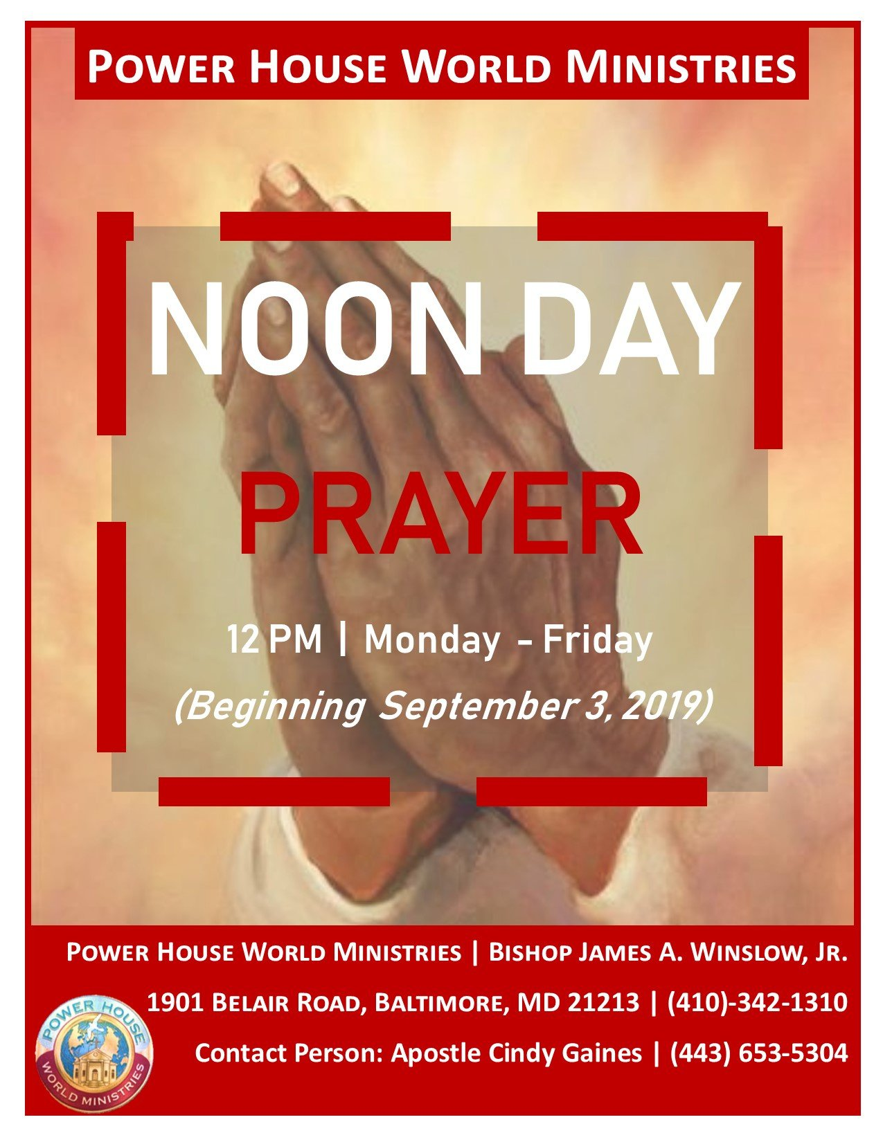 PHWM Noon Day Prayer Flyer