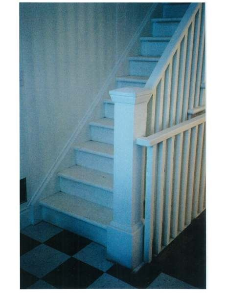 Straight poplar stair
