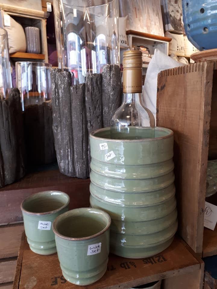 Green Wine Chiller  (set of 3) $95