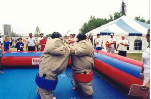 Sumo Wrestling  3 hr. Rental is $300.00 plus Taxes $339.00 Total Extra hr. $100.00 plus Taxes