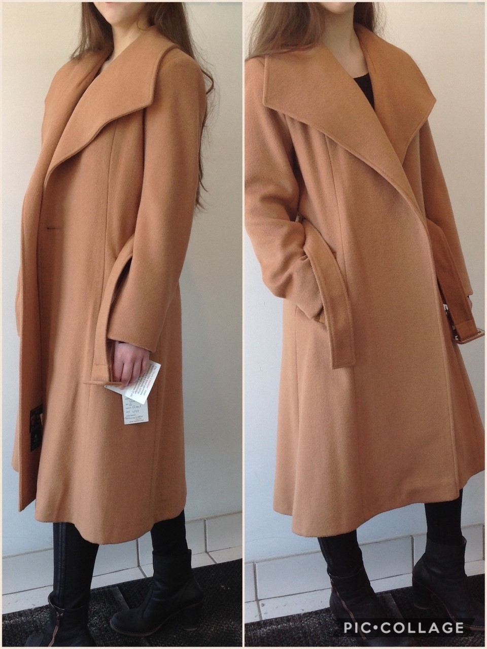 Style # 4403 -Camel Side View Cashmere/Wool